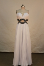 Discount Empire Sweetheart Floor-length Prom Dresses  Beading Style FA-Z-00156