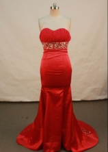 Exclusive Mermaid Sweetheart Chapel Prom Dresses Appliques with Beading Style FA-Z-00170