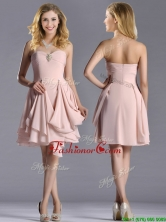 Exclusive Sweetheart Chiffon Beaded Prom Dress in Light Pink THPD206FOR