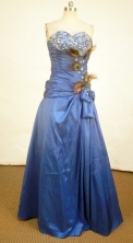 Fashionable A-line Sweetheart-neck Floor-length Beading Prom Dresses Style FA-C-124
