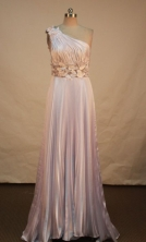 Fashionable Empire One Shoulder Neck Brush Prom Dresses Appliques Style FA-Z-00167