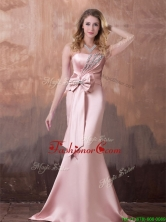 Gorgeous Mermaid Brush Train Prom Dress with Beading and Bowknot THPD330FOR