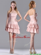 Low Price Ruffled Layers Short Prom Dress in Asymmetrical THPD199FOR