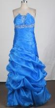 Discount Empire Strapless Floor-length Prom Dress LHJ42839