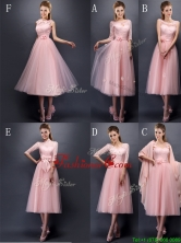Most Popular Baby Pink Tulle Prom Dress in Tea Length BMT097-1FOR