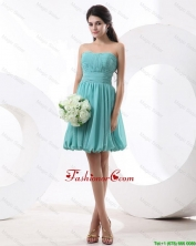 Most Popular Mini Length Aqua Blue Prom Dresses with Strapless DBEE372FOR