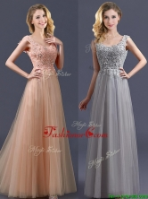 New Arrivals Empire Floor Length Prom Dress with Appliques BMT0135FOR