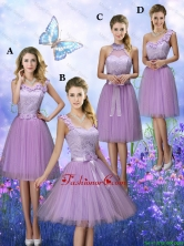 New Style Appliques Tulle Prom Dresses with Knee Length BMT063FOR