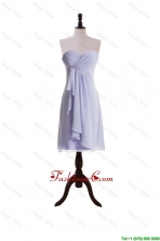 New Style Lavender 2015 Short Prom Dresses with Ruching and Ruffles DBEES286FOR