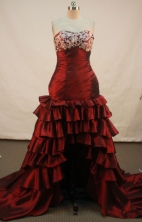 Popular A-line Sweetheart Chapel Prom Dresses Appliques with Beading Style FA-Z-00167