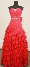 Popular A-line Sweetheart-neck Floor-length Beading Prom Dresses Style FA-C-123