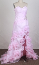 Discount Empire Sweetheart Brush  Pink Prom Dress LHJ42889