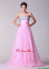 Pretty Princess Sweetheart Rose Pink Prom Dresses with Brush Train DBEE002FOR