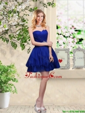 Simple Sweetheart Royal Blue Prom Dresses with Belt BMT034BFOR