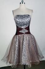 Sweet A-line Strapless Mini-length Brown Prom Dress LHJ42823