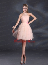 Tulle Appliques Mini Length 2015 Prom Dresses with Halter BMT022GFOR