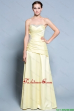 Wonderful Column Sweetheart Prom Dresses with Beading in Light Yellow DBEE461FOR