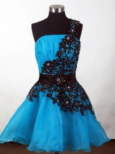 2012 Affordable A-line One Shoulder Neck Mini-Length Prom Dresses Style WlX426138