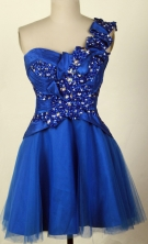 2012 Affordable A-line One Shoulder Neck Mini-Length Prom Dresses Style WlX426139