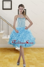2014 Beautiful Sweetheart Knee Length Short Prom Gowns with Beading XFNAO5844TZBFOR