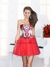 2015 Ball Gown Strapless Multi Color Short Prom Dresses with Embroidery  QDZY386TZCFOR