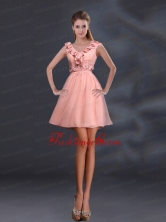 2015 Pretty Appliques and Ruffles A Line Prom Dresses BMT028AFOR