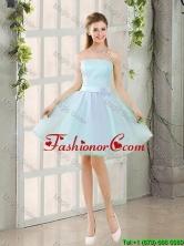 2016 Custom Made A Line Strapless Short Prom Dresses BMT014A-6FOR