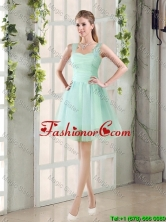 2016 Custom Made A Line Straps Prom Dresses with Ruching BMT014D-5FOR