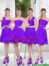 2016 Fall A Line Bowknot Prom Dresses in Purple BMT001-4FOR