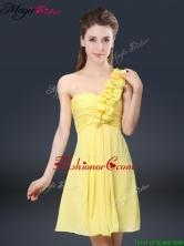2016 Sweet Short One Shoulder Ruching Prom Dresses BMT067BFOR