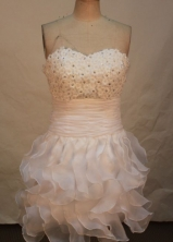 Beautiful Short Sweetheart Knee-length Prom Dresses Appliques with Beading Style FA-Z-00165