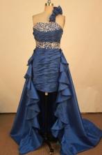 Brand New Short One-shoulder neck Mini-length Beading Prom Dresses Style FA-C-157