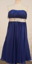 Cute Empire Strapless Tea-length Short Prom Dresses Beading Style FA-Z-00135
