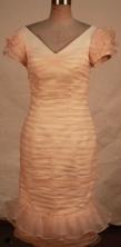 Fashionable Column V-neck Tea-length Short Prom Dresses Style FA-C-215