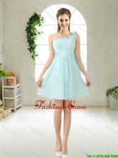 Feminine One Shoulder Hand Made Flowers Prom Dresses BMT052EFOR