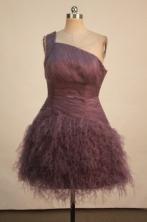 Luxurious A-line One-shoulder Neck Mini-length Short Prom Dresses Style FA-C-158