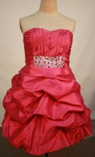 Modest A-line Sweetheart Knee-length Short Prom Dresses Appliques with Beading Style FA-Z-00137