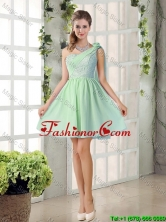 Perfect A Line One Shoulder Lace Prom Dresses Flowers BMT010D-3FOR