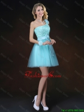 Perfect Bowknot Appliques Prom Dresses with One Shoulder BMT062BFOR