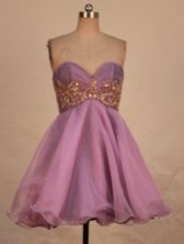 Prefect A-line Sweetheart-neck Mini-length Lavender Appliques Short Prom Dresses Style FA-C-181