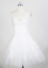 Pretty Short Sweetheart Mini-length White Prom Dress LHJ42872