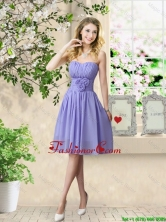 Pretty Strapless Prom Dresses with Hand Made Flowers BMT056DFOR