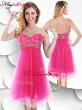 Pretty Sweetheart Hot Pink Short Prom Dress with Beading SWPD012FB-1FOR