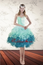 Short Multi Color Sweetheart Ruffles Prom Gown with Beading XFNAO5640TZBFOR