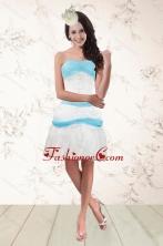 Short White and Baby Blue Strapless Prom Dresses for 2015 XFNAO001TZBFOR