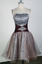 Sweet A-line Strapless Mini-length Brown Prom Dress LHJ42823