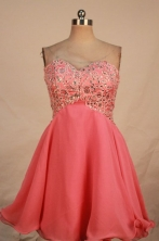 Sweet A-line Sweetheart-neck Mini-length Appliques Short Prom Dresses Style FA-C-144