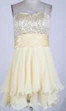 Sweet Short Sweetheart Mini-length Champange Prom Dress LHJ42826