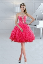 Sweetheart 2015 Short Prom Gown with Ruffles and Beading XFNAO885ATZBFOR