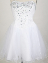 2012 New A-line Strapless Mini-Length Prom Dresses Style WlX426109